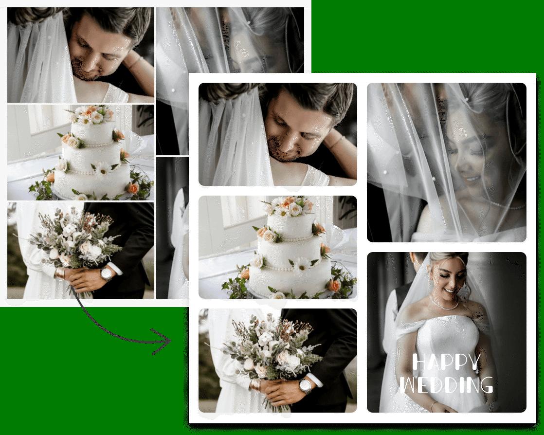 Customizable photo collage templates